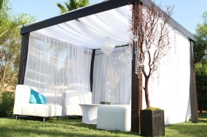 Cabana w/ white and turquoise theme